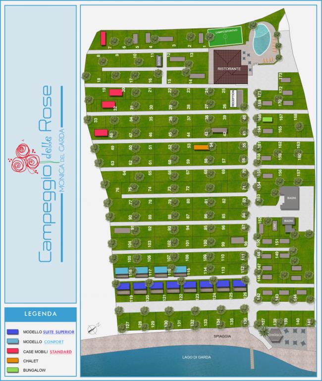 piantina Campeggio delle Rose
