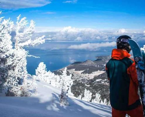 Lago di Garda in inverno