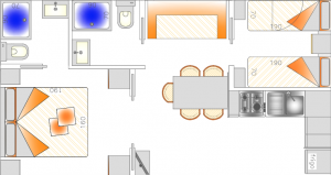 planimetria case mobili superior campeggio delle rose moniga del garda