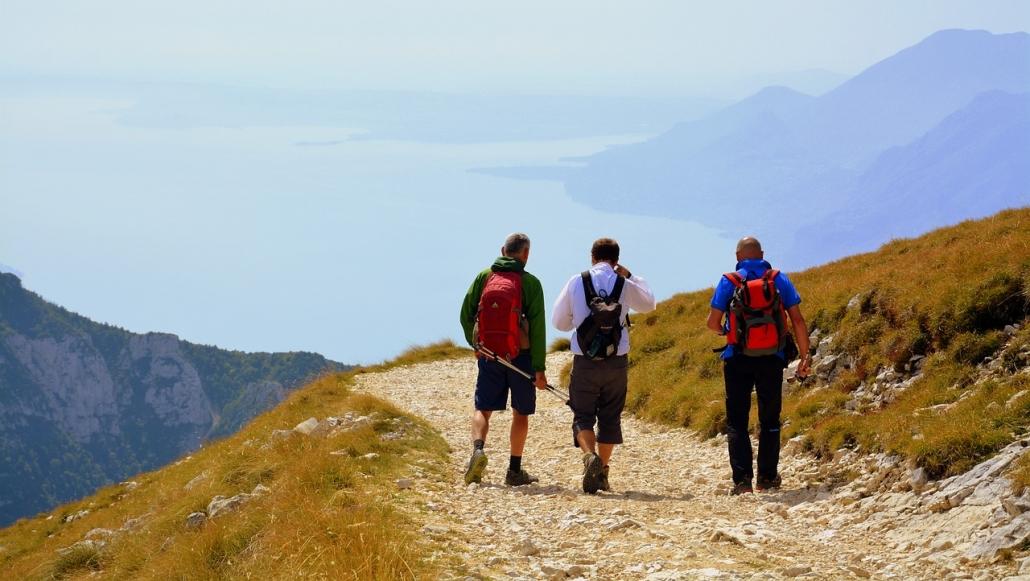 trekking sul lago di garda monte baldo