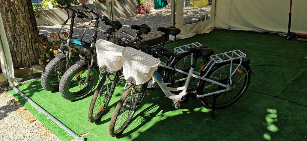 noleggio bici elettriche campeggio delle rose