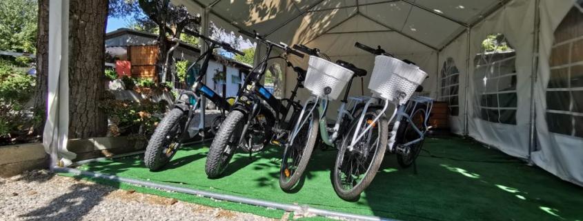 campeggio delle rose biciclette