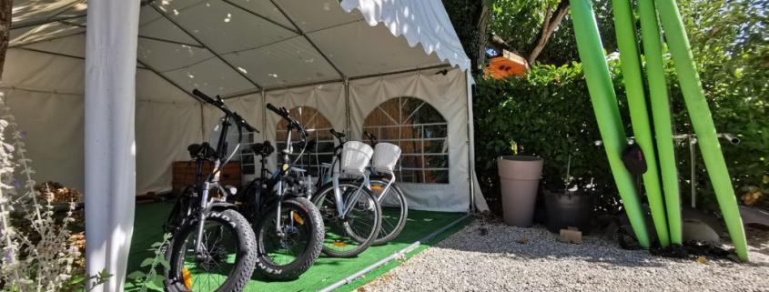 noleggio bici elettriche al campeggio delle rose, moniga del garda